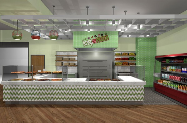 Above Krisp Pizza Interior Design View The Aluminum Ceiling Frame Will Be Suspended Counter To Hide All Existing And New Electrical Cables