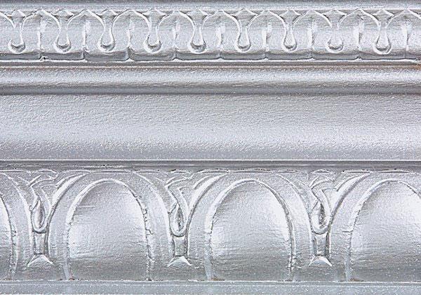 Silver metallic paint on decorative wall