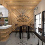 Urban Farm Restaurant Branding and Interior Design