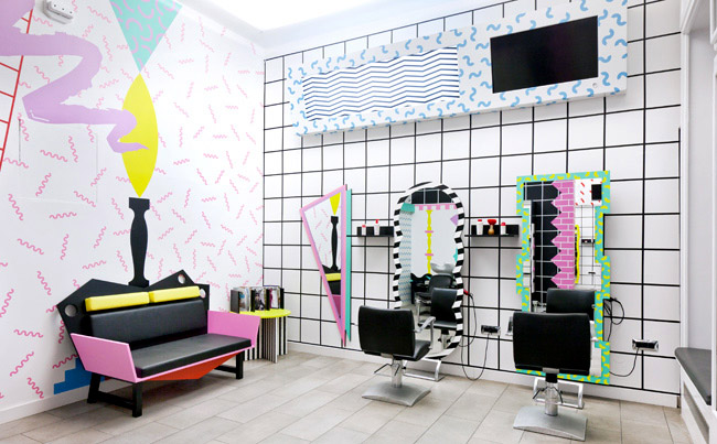 Styling Hair Salon Or a Paper Doll House Commercial Interior