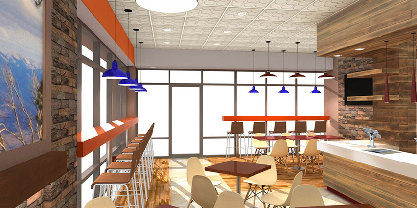 Professional restaurant design with cohesive look