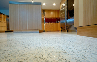 recycled glass in interior design