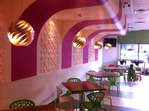 CC Swirls Yogurt Shop Design