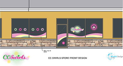 CC Swirls Yogurt Shop Interior Design