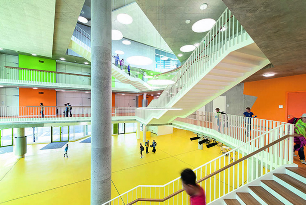 Bright Colors In School Interior Design Commercial Interior Design News