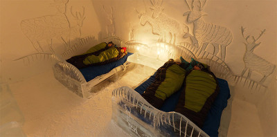 Ice Hotel Beds