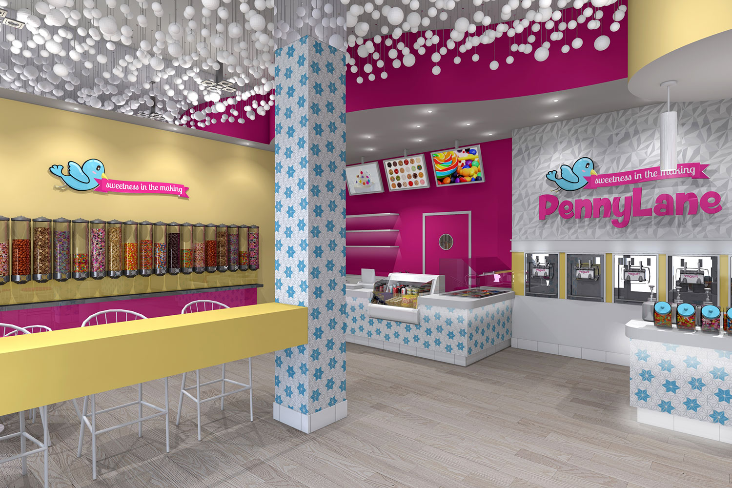 Interior Design of Yogurt Shops