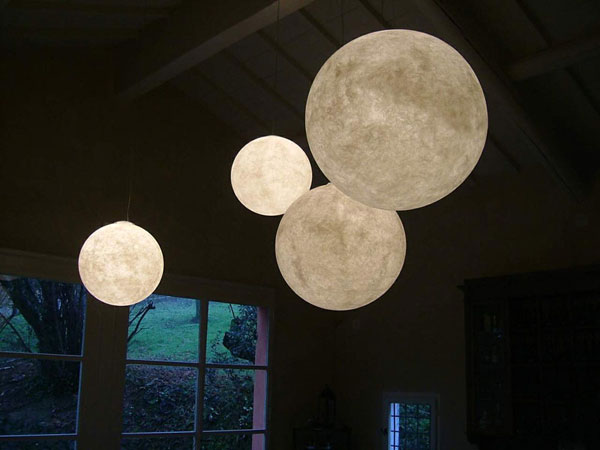 The moon as inspiration for light fixtures commercial interior moon ceiling lamp aloadofball Image collections