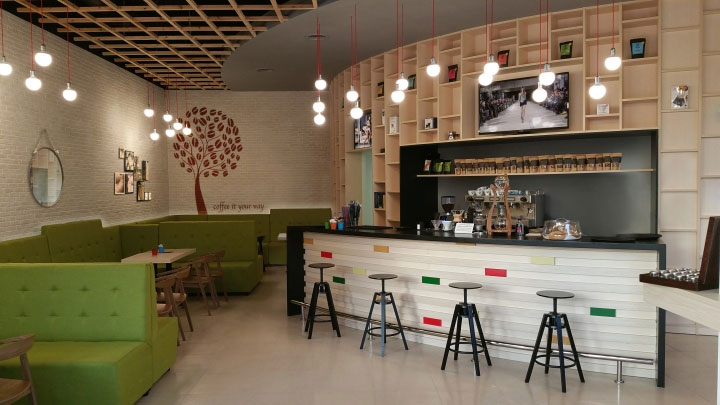 contemporary greek cafe - Contemporary Cafe Interior