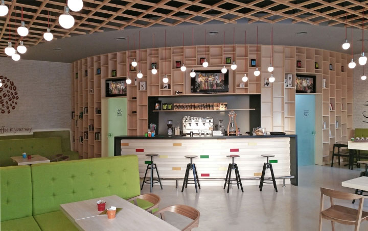 Interior Design Culture contemporary café attracts the coffee culture crowd - commercial