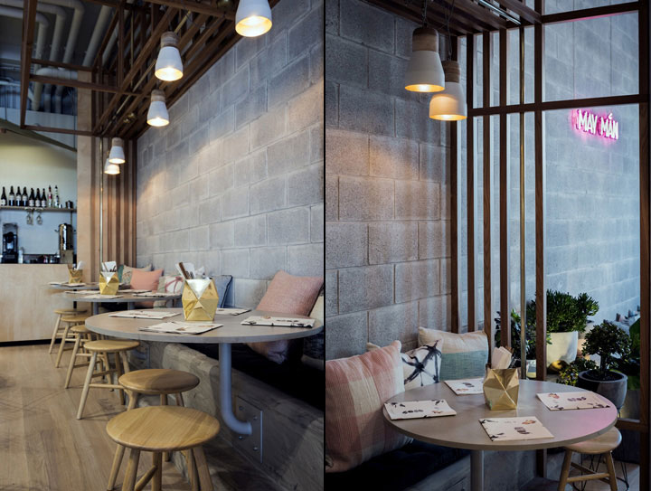 Vietnamese restaurant interior design combines elegance