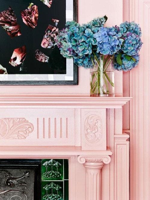 Pink-Fireplace
