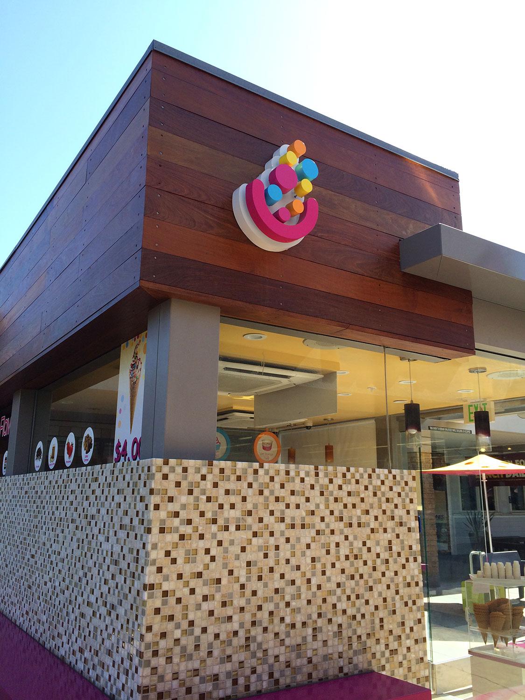 My Yogurt Kiosk Design in Mission Valley Mall