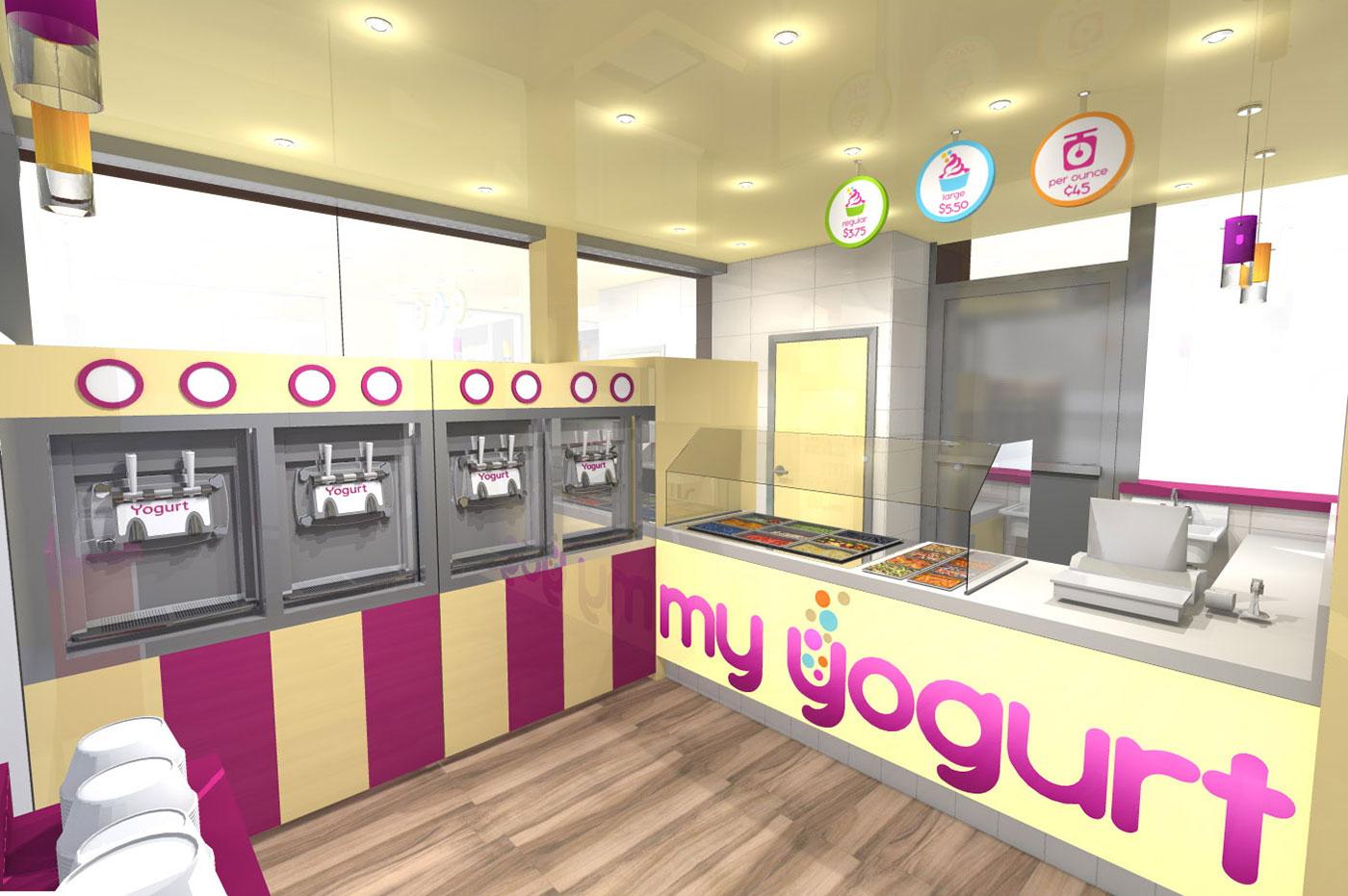 My Yogurt Kiosk Design in Mall