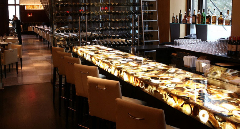 Countertop finish bar interior design