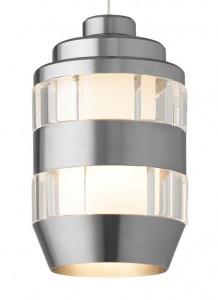 Akida Pendant Clear Satin Nickel