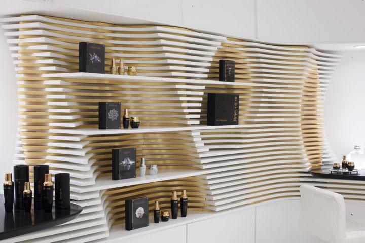 Plenty Of Shelves In This Cosmetics Store Interior Design