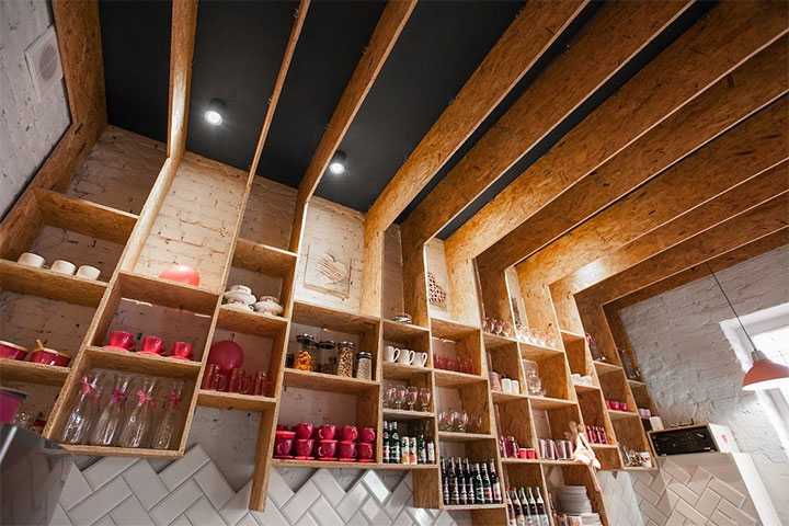 Cafe-Interior-Design-Wood-Ceiling