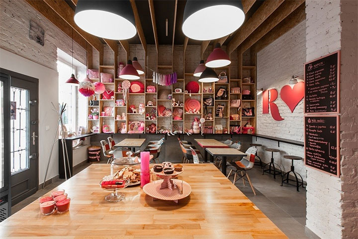 Pink Cafe Interior Design Makes Patrons Feel At Home