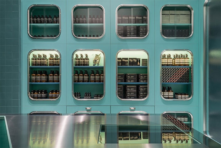 Metal-Cabinets-in-Cosmetic-Store-Design