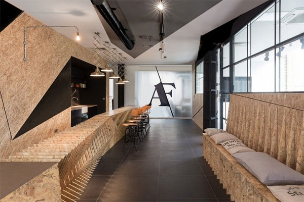 Particle Boards Take a Life of Their Own in London Office Design
