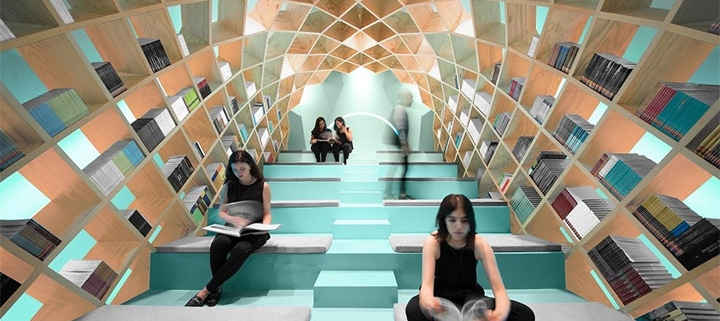 Visual Perspective in Unique Library Design