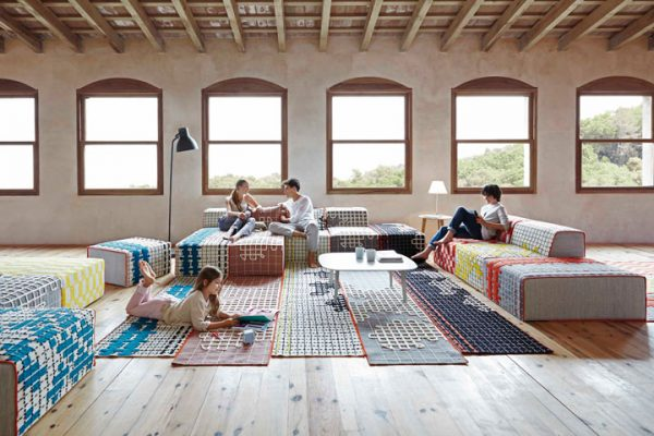 Interior Design Materials with a Twist - Rugs Do Double Duty as Upholstery Material