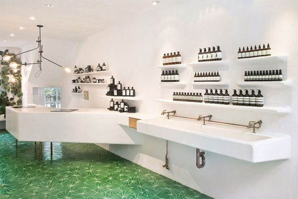 Minimalist Cosmetics Store Evokes the Look of an Apothecary