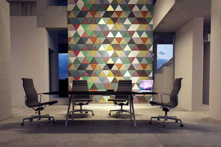 Attrayant Innovative Interior Design Materials U2013 Leather Tiles For Walls And Floors