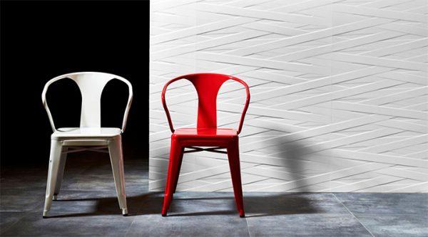 Customizable Interior Design Materials - Texture and Relief in Ceramic Tiles