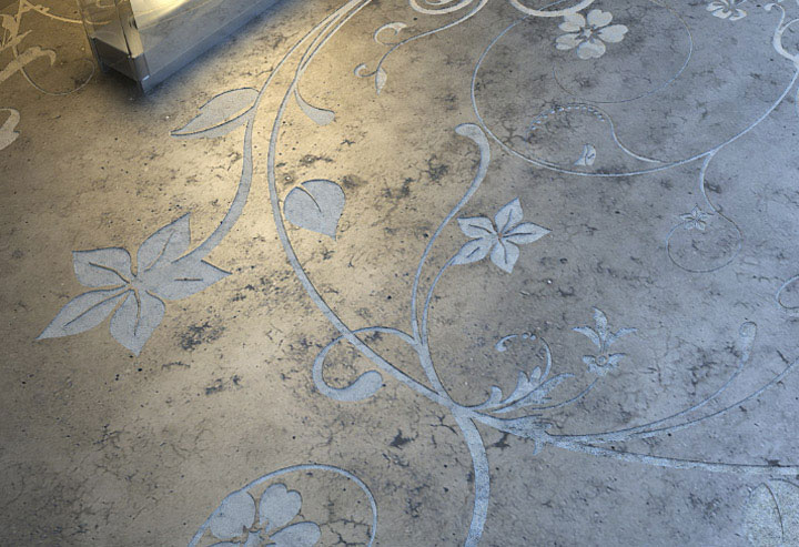 Flooring Materials With A Twist When Concrete Floors Go Artistic