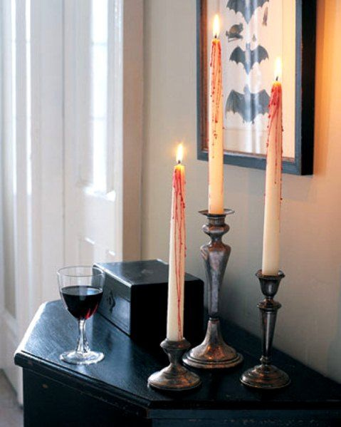 bloody-candles-halloween-decor