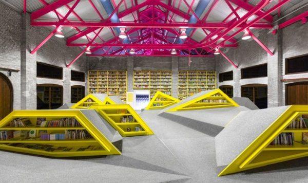 Colorful Library Interior Design