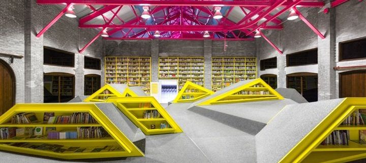 Colorful Library Interior Design