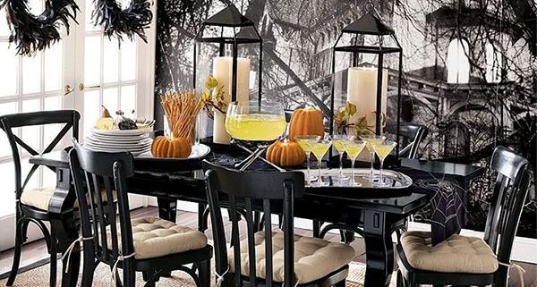 halloween simple table decor