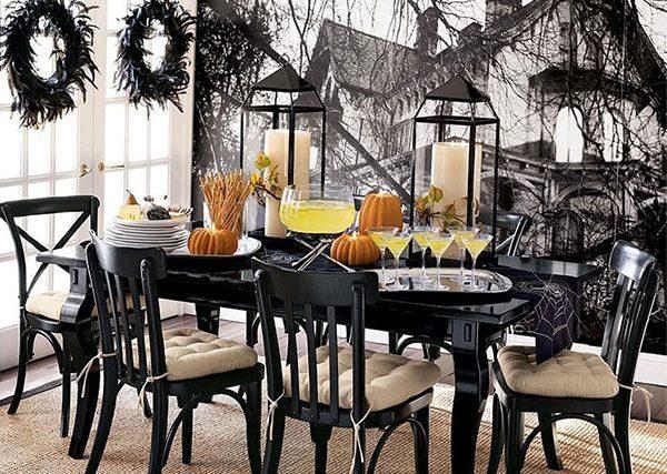 halloween simple table decor