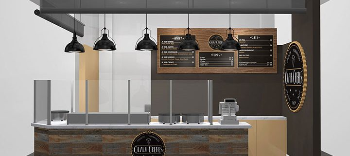 Olala Crepes Branding and Kiosk Design, Liberty Public Market