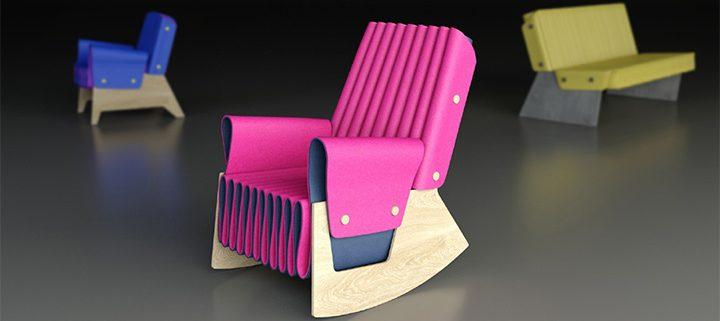 Light foam chair in pink