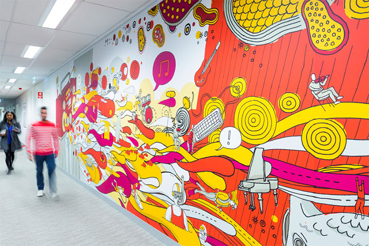 Bold Colors and Wall Art - New Trends in Commercial Interior Design