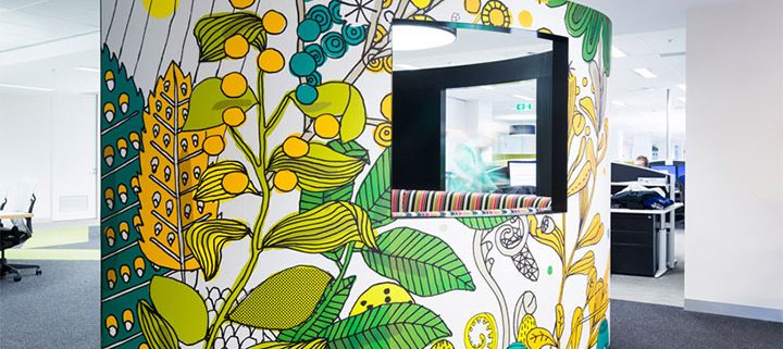 Bold Colors And Wall Art New Trends In Commercial Interior Design