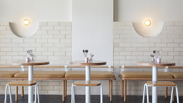 Dessert Store Uses Brick And Wood For A Minimalist