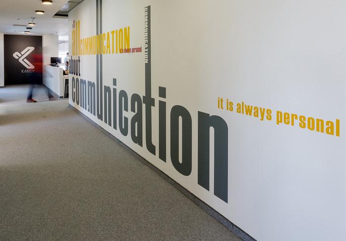 Oversized letter wall decor for cheap office design