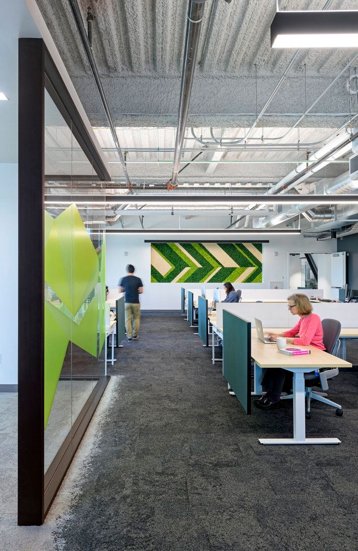 open office interior design intended the new comcast offices offer variety of work areas suitable for different style tasks and even moods from conference rooms semiprivate office interior design u2013 taking space from neutral to inspiring