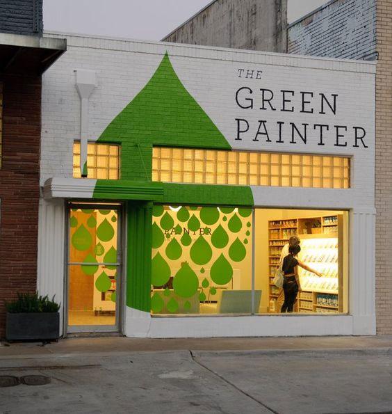 Cheap drop-shaped window decor for paint store