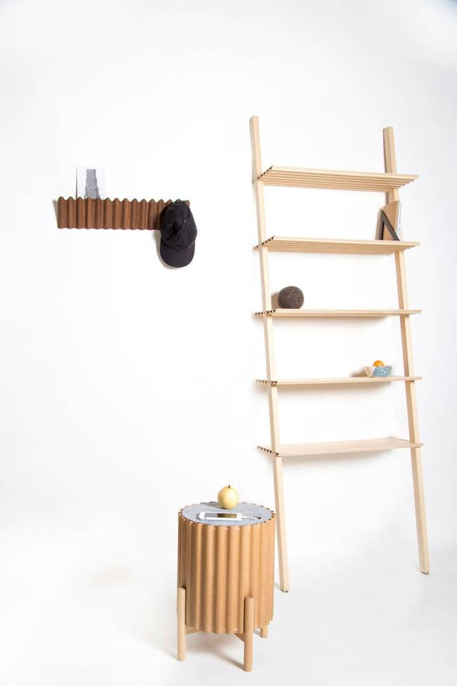 Environment friendly furniture made of corrugated plywood