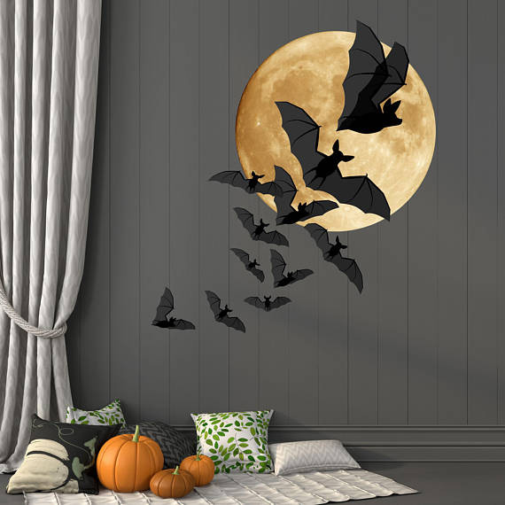 Mix In A Full Moon And Your House Or Office Suddenly Looks The Part You Can Make Own Design With These Removable Vinyl Decals Create