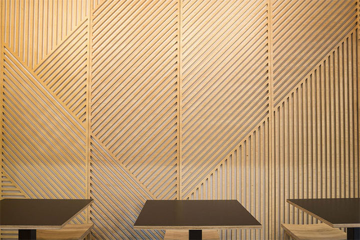 Restaurant Interior Design Mixes Light And Wood Panels For