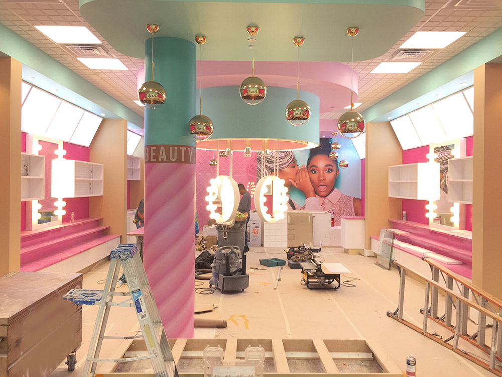 Beauty Bakerie store during construction desing by Mindful Design Consulting
