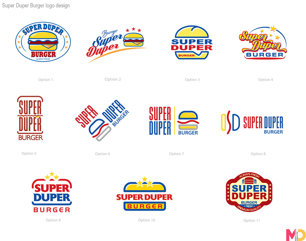 Burger restaurant logo design by Mindful Design Consulting