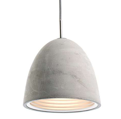 Pendant lights made of concrete suit urban or industrial homes